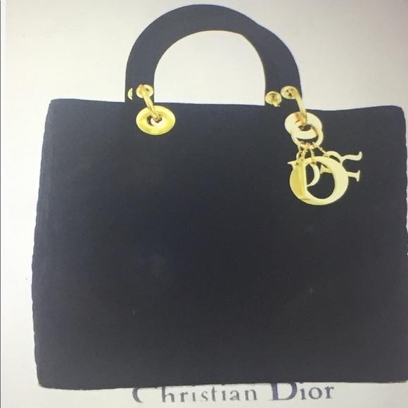"""9d979ddaf56e Dior Handbags - 🆕 Dior"""" Lady Dior"""" Cannage Quilted Canvas Handbag"""